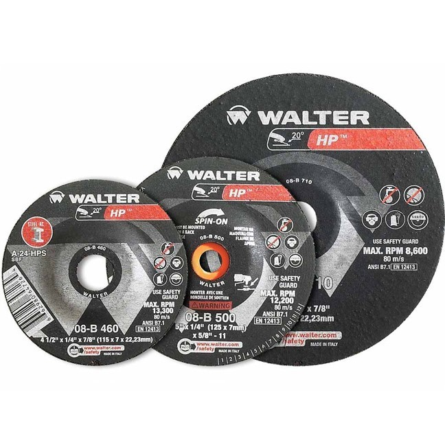 "Walter 08B450 4-1/2"" HP Grinding Wheel"