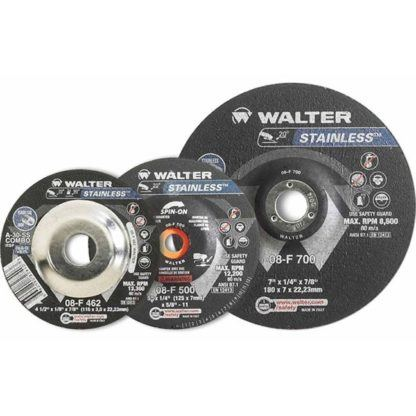 "Walter 08F450 4-1/2"" Stainless Steel Grinding Wheel"