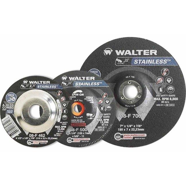 "Walter 08F510 5"" Stainless Steel Grinding Wheel"