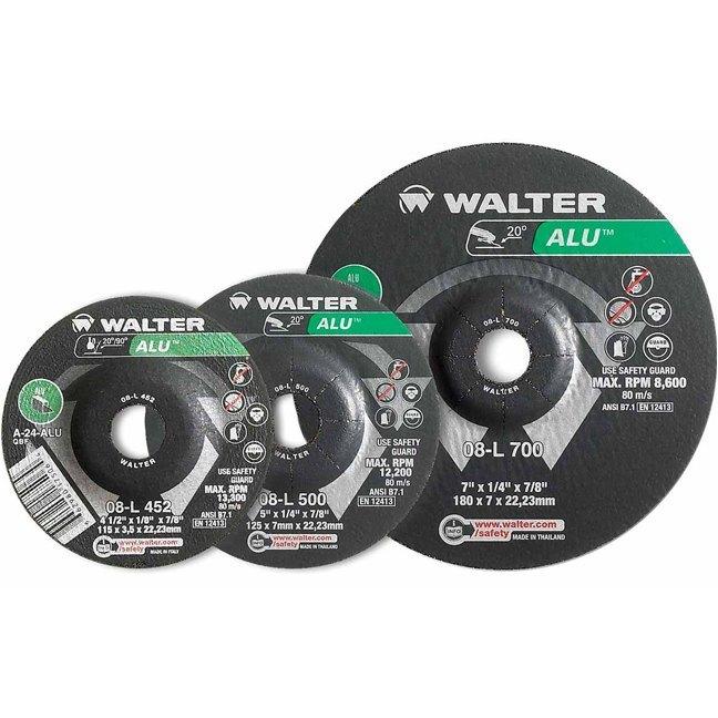 "Walter 08L500 5"" Aluminum Grinding Wheel"