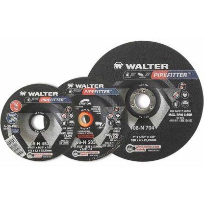 """Walter 08N504 5"""" Pipefitter Grinding Wheel"""