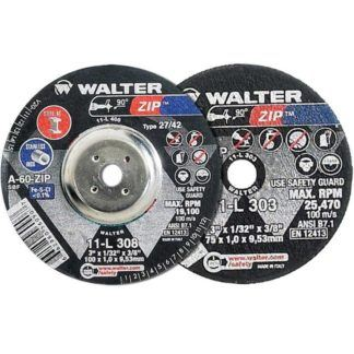"Walter 11L302 3"" Zip Die Grinder Cutting & Grinding Wheel"
