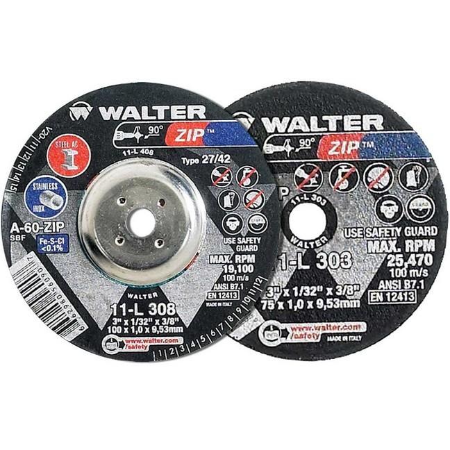 """Walter 11L303 3"""" Zip Die Grinder Cutting & Grinding Wheel"""
