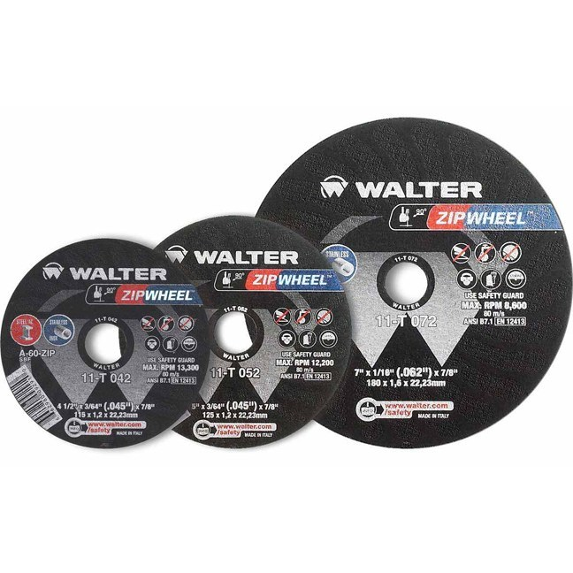 "Walter 11T072 7"" Zipwheel Thin Cut-Off Wheel"