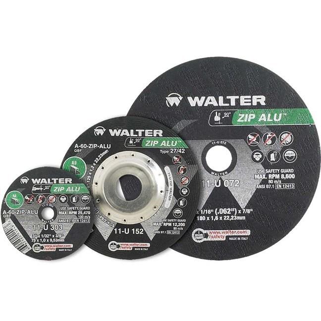 """Walter 11U052 5"""" Zip Aluminum Cutting Wheel"""