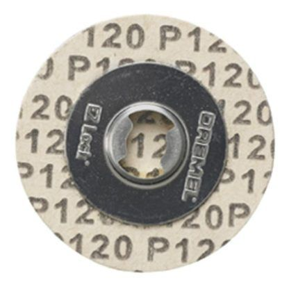 Dremel EZ412SA EZ Lock 120 Grit Sanding Discs - 5pk