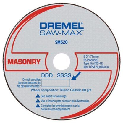 "Dremel SM520C 3"" Masonry Cut-Off Wheel - 3pk"