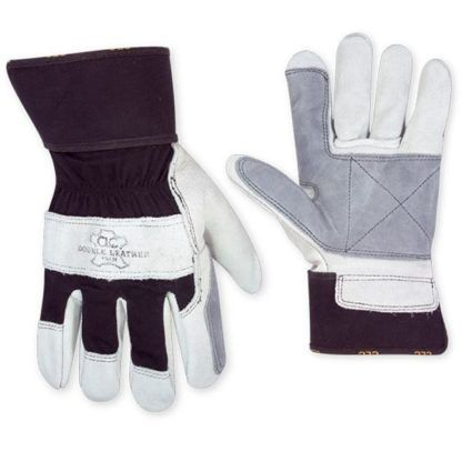 Kuny's 2050 Double Leather Palm Safety Cuff Work Gloves