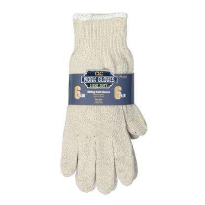 Kuny's PK2001 Economy String Knit Gloves - 6pk