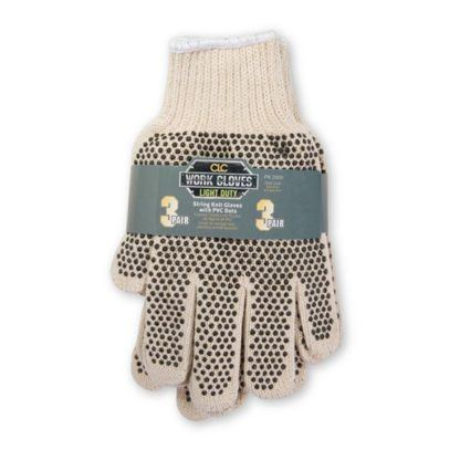 Kuny's PK2005 Knit Gloves with PVC Dots - 3pk