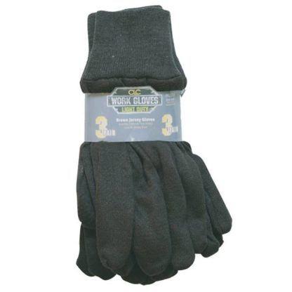 Kuny's PK2008 Brown Jersey Gloves - 3pk