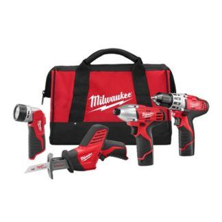Milwaukee 2498-24 M12 4-Tool Combo Kit