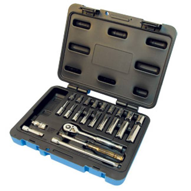 "Jet 600115 24 PC 1/4"" DR SAE Socket Wrench Set - 6 Point"