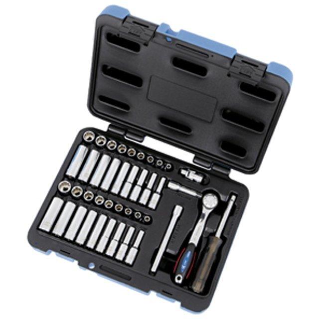 """Jet 600126 42 PC 1/4"""" DR SAE Metric Socket Wrench Set"""