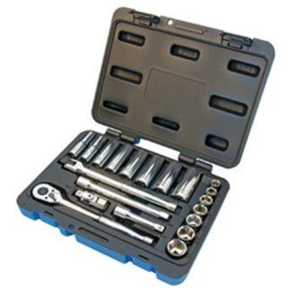 "Jet 600229 21 PC 3/8"" DR SAE Socket Wrench Set - 6 Point"
