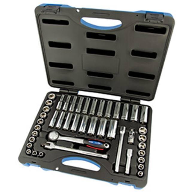 """Jet 600241 45 PC 3/8"""" DR SAE Metric Socket Wrench Set"""