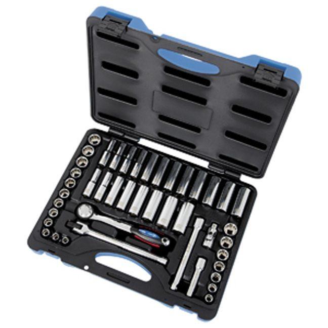 """Jet 600242 45 PC 3/8"""" DR SAE Metric Socket Wrench Set"""