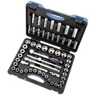 """Jet 600341 55 PC 1/2"""" DR SAE Metric Socket Wrench Set"""