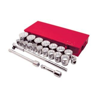 "Jet 600503 21 PC 1"" DR SAE Socket Wrench Set - 12 Point"