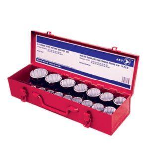 "Jet 601406 17 PC 3/4"" DR Metric Socket Set - 12 Point"