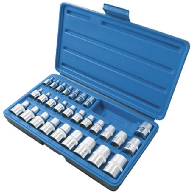 """Jet 601811 28 PC 1/4"""", 3/8"""" & 1/2"""" DR External TORX Socket Set"""