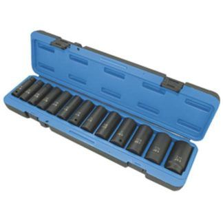 "Jet 610323 13 PC 1/2"" DR Deep SAE Impact Socket Set"