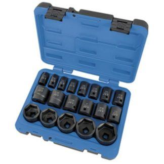"Jet 610328 19 PC 1/2"" DR SAE Impact Socket Set - 6 Point"