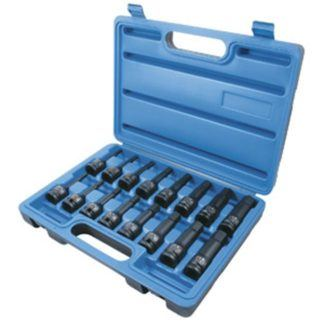 "Jet 610340 16 PC 1/2"" DR SAE Metric Hex Bit Impact Socket Set"