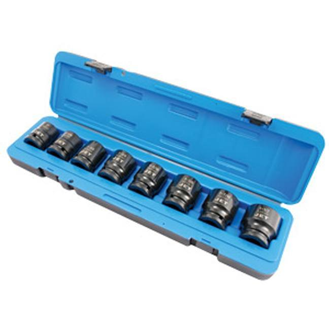 Jet 1//2-inch Drive 16-Piece 3 Length SAE//Metric Professional Hex Bit Impact Socket Set 610340