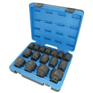 "Jet 610403 16 PC 3/4"" DR SAE Impact Socket Set - 6 Point"