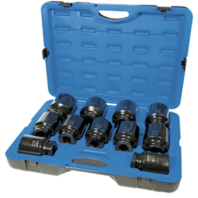 5-Piece Deep SAE//Metric Professional Mag Wheel Impact Socket Set Jet 1//2-inch Drive 610341