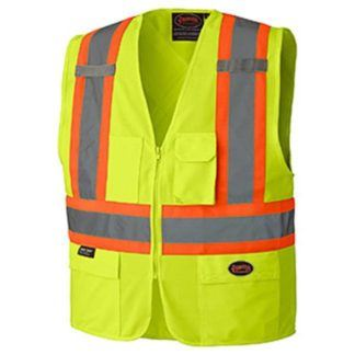 Pioneer 159 Hi-Viz Zipper Front Safety Vest