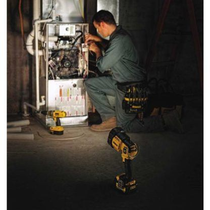 DeWalt DCL043 20V Max Jobsite LED Spotlight In Use 1