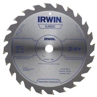 """Irwin 25130 7-1/4"""" 24T Circular Saw Blade"""
