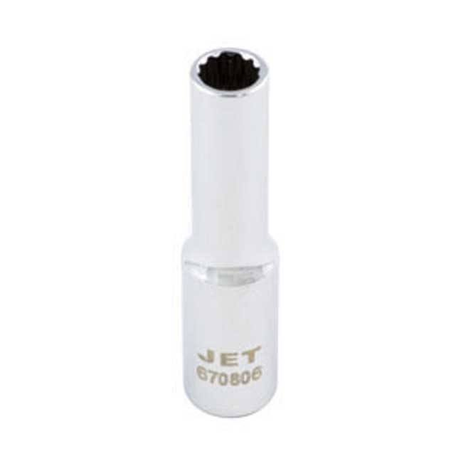 Jet Deep Chrome Socket - 12 Point