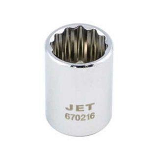 Jet 672621 Regular Chrome Socket - 12 Point