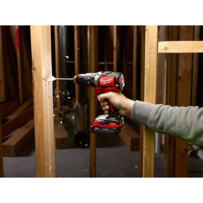 Milwaukee 2702-20 M18 Compact Brushless Hammer Drill Driver In Use 5