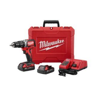 "Milwaukee 2702-22CT M18 1/2"" Compact Brushless Hammer Drill Driver Kit"