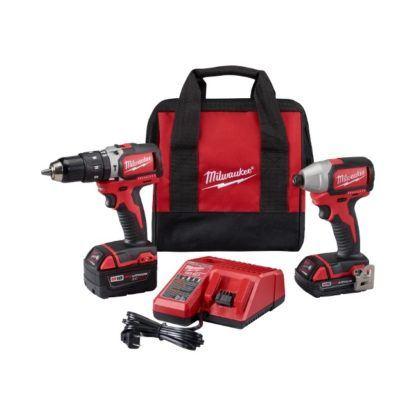 Milwaukee 2799-22CX M18 Brushless Hammer Drill & Impact Driver Kit