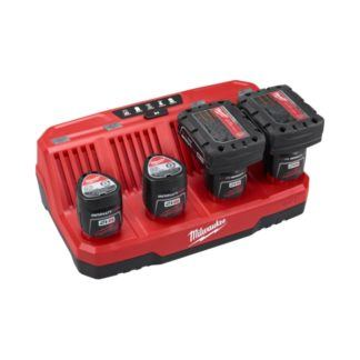 Milwaukee 48-59-1204 M12 Four Bay Sequential Charger104 In Use 2