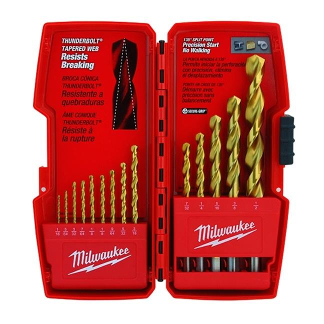 Milwaukee 48-89-0011 THUNDERBOLT Titanium Coated Drill Bits