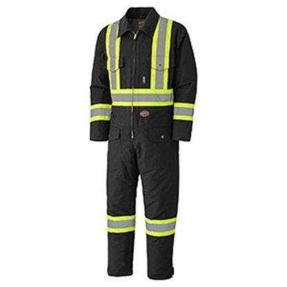 Pioneer 5539BKA Quilted Cotton Duck Safety Coverall