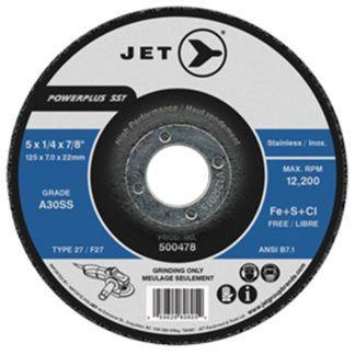 Jet 500478 5 x 1/4 x 7/8 A30SS T27 Grinding Wheel