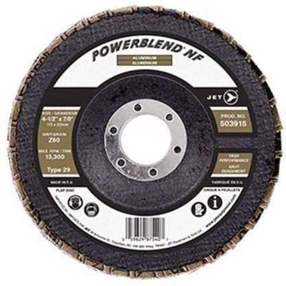 Jet 503915 4-1/2 x 7/8 Z60 POWERBLEND NF Flap Disc
