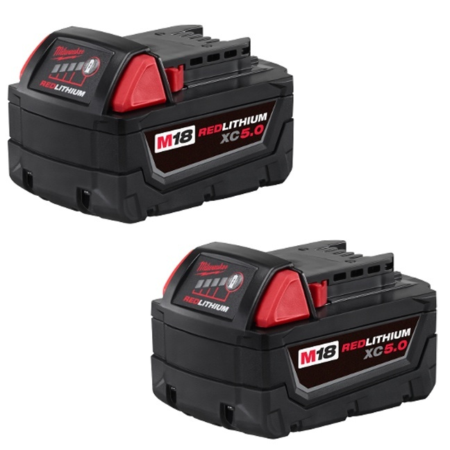 Milwaukee 48-11-1852 XC5.0 Extended Capacity Battery - 2pk