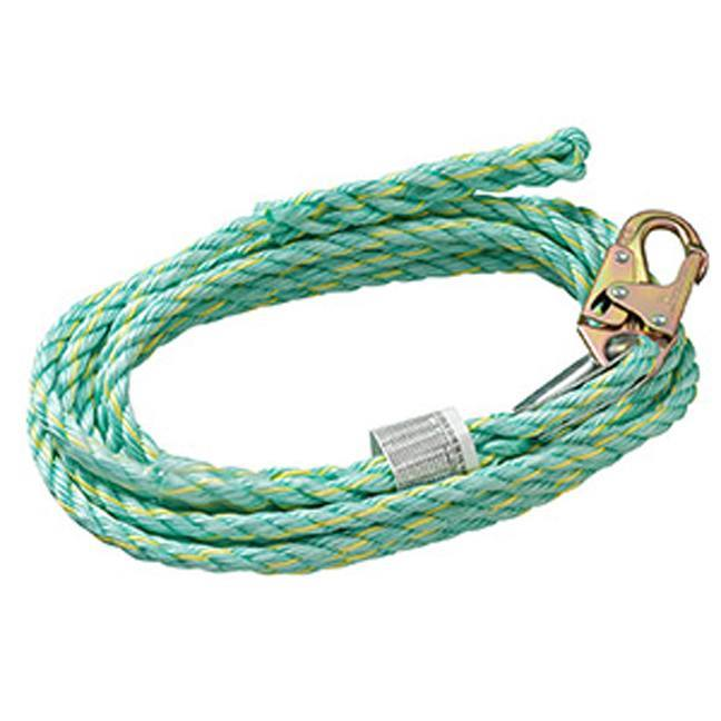 """Peakworks VL-1125-50 Vertical Lifeline 5/8"""" Snap Hook & Back Splice"""