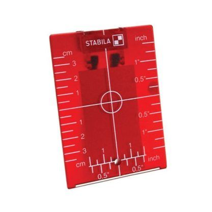Stabila 07474 Red Magnetic Ceiling Target Plate