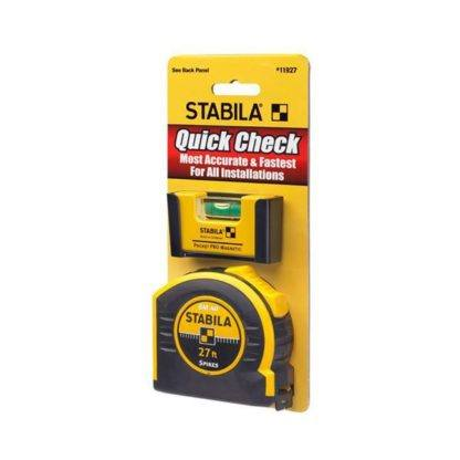 Stabila 11927 Quick Check Pocket Pro Level Plus 27ft Tape