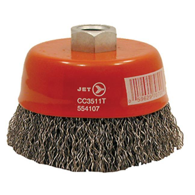 Jet 553501 4 x 5/8-11 NC Crimped Wire Cup Brush