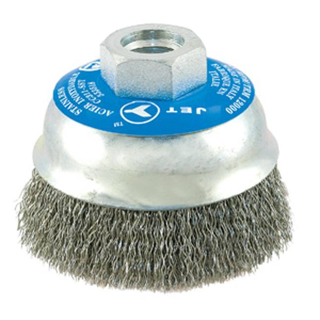 Jet 553518 3 x 5/8-11NC Stainless Crimped Wire Cup Brush